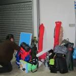Una parte dei bagagli